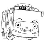 Автобус Тайо раскраска
