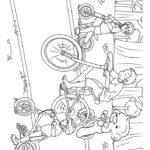 Четыре велосипедиста