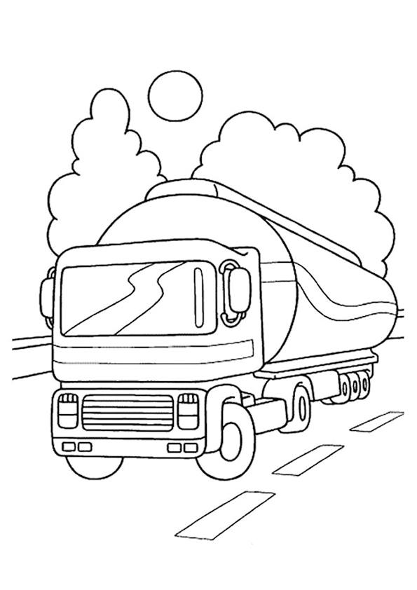 Грузовик едет по дороге