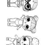Куклы ЛОЛ три девочки в ряд