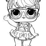 Кукла ЛОЛ в очках машет