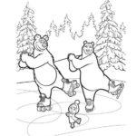 Маша и медведи на коньках