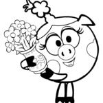 Нюша с вазой цветов