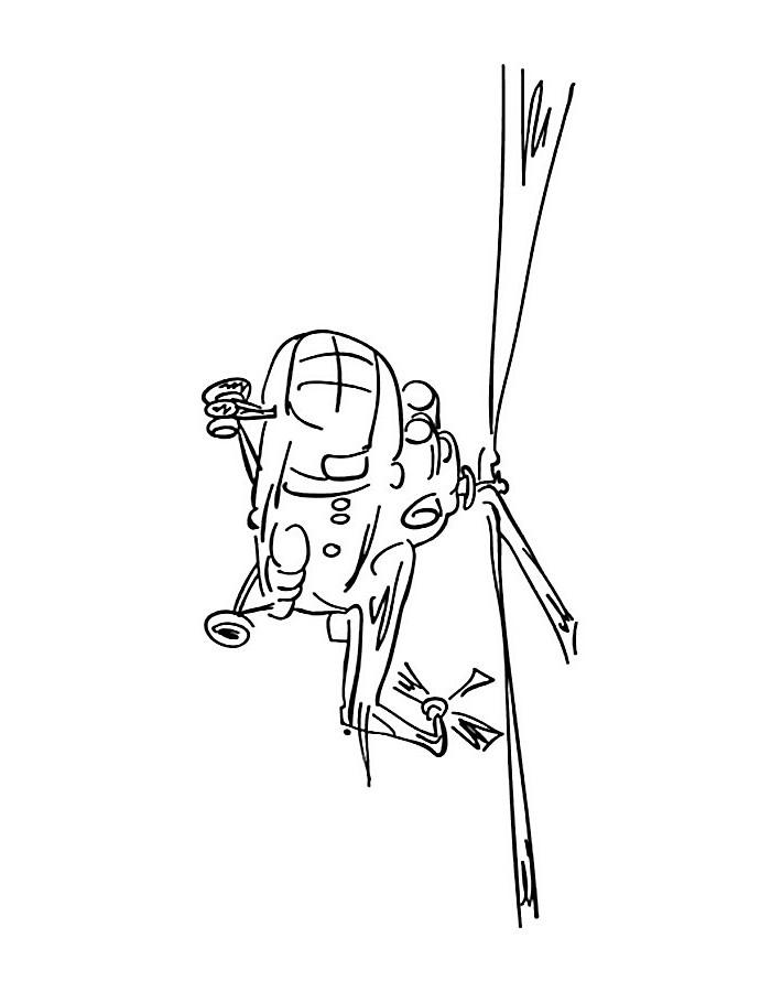 Раскраска вертолета МИ 8