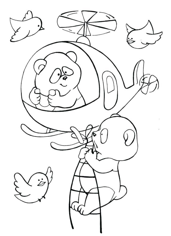 Вертолет - картинки для детей раскраски