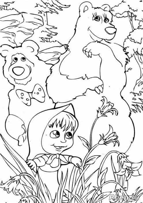 Влюблённые медведи и Маша