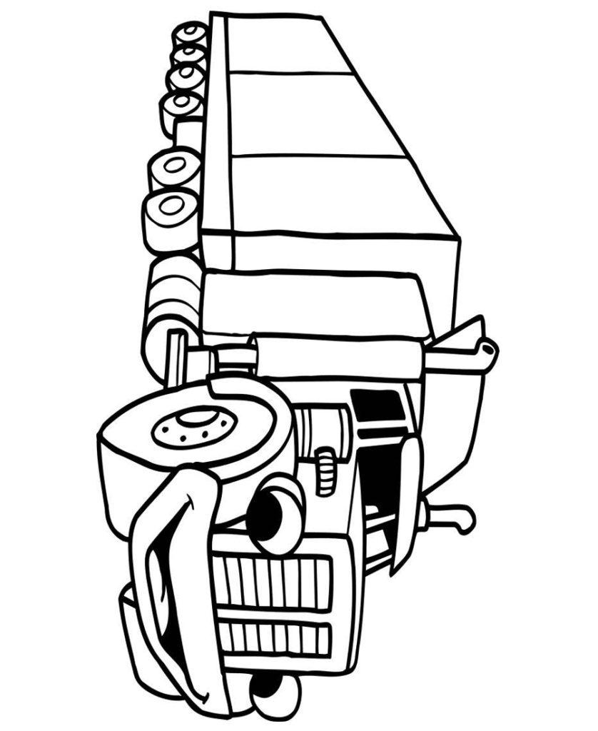 Грузовик картинка раскраска