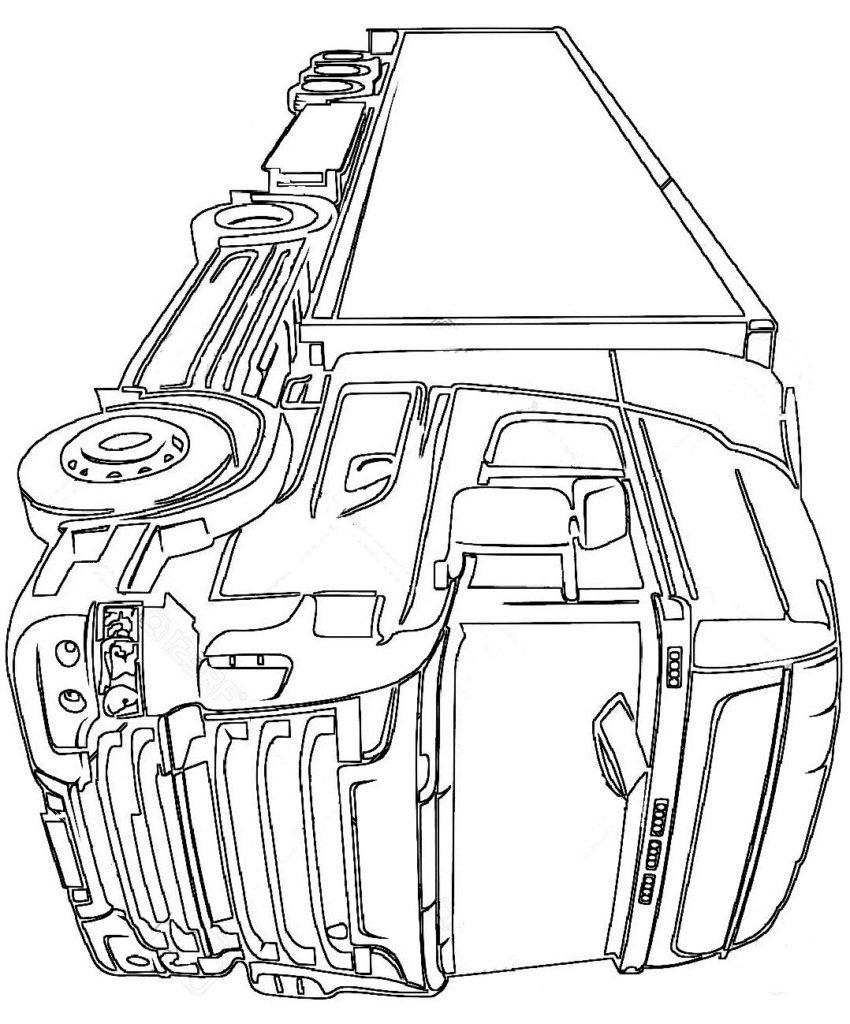 Раскраска грузовик Скания