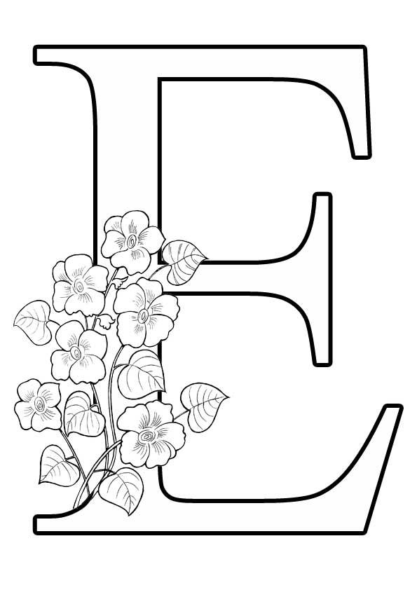 Буква Е с цветами