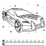 Буква М с машиной