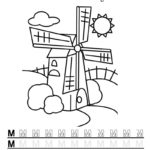 Буква М с мельницей