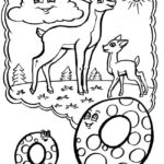 Буква О Оленёнок с мамой