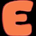 Раскраска картинка для детей буква Е