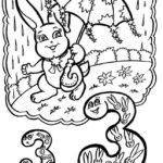 Буква З с зайцем под зонтом