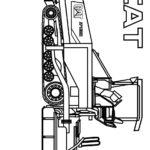 Раскраска асфальтоукладчик CAT