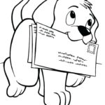 Раскраски домашняя собака