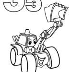 """Буква """"Э"""" экскаватор на колёсах"""