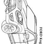 Форд Куга раскраска