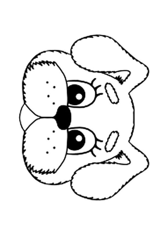 Раскраска головы собаки