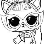 Раскраска кошка Лол