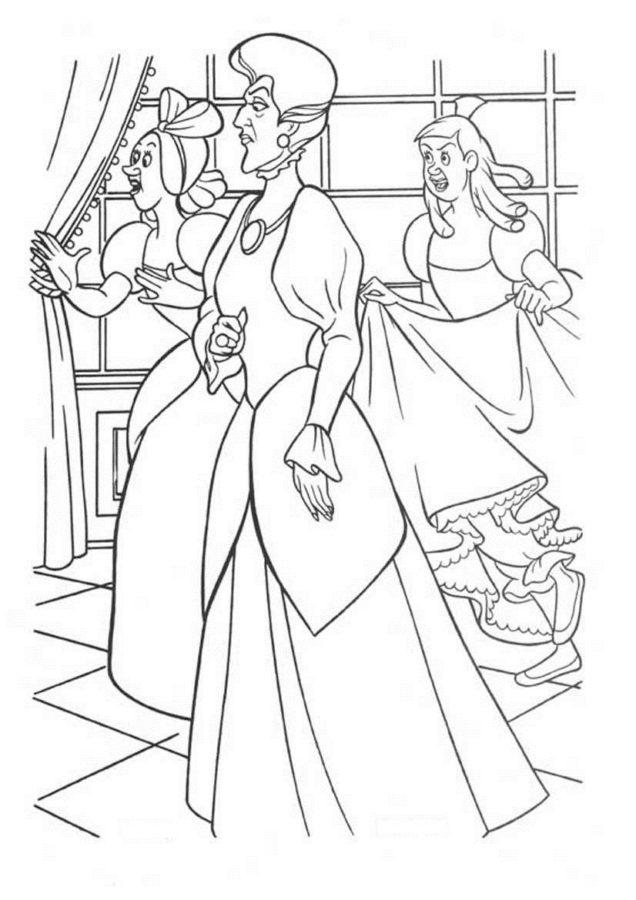 герои сказки золушка в картинках для раскраски мордюкова