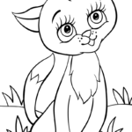 Раскраска милая кошка