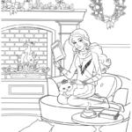 Раскраска Барби дома