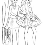 Раскраска Барби модель