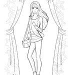 Раскраска Барби модница