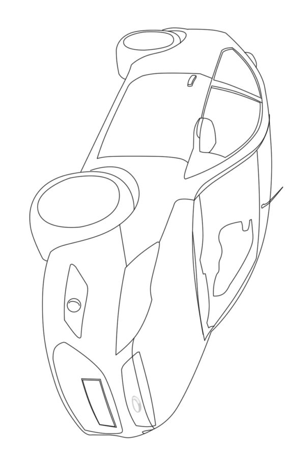 Раскраска машины Форд Фокус 3