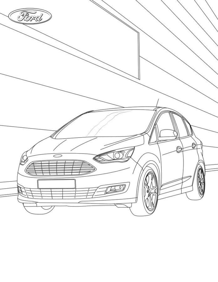 Раскраска Форд С-МАХ гибрид