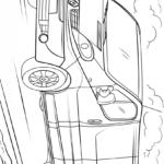 Раскраска Рено фургон (минивэн)