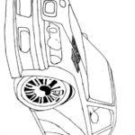 Раскраска гоночная БМВ