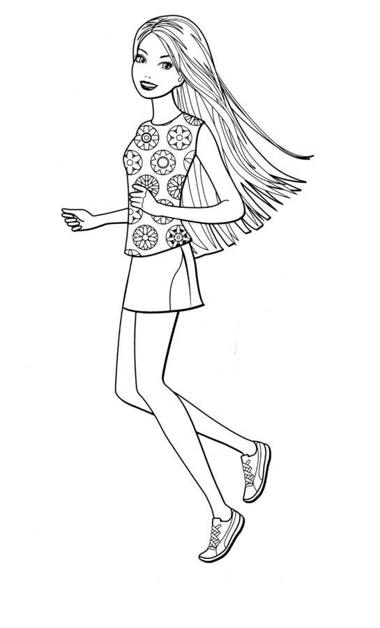 Раскраска маленькая Барби