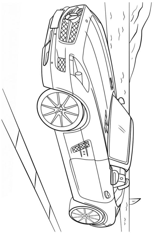 Раскраска Мерседес AMG