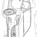 Раскраска опель Вектра