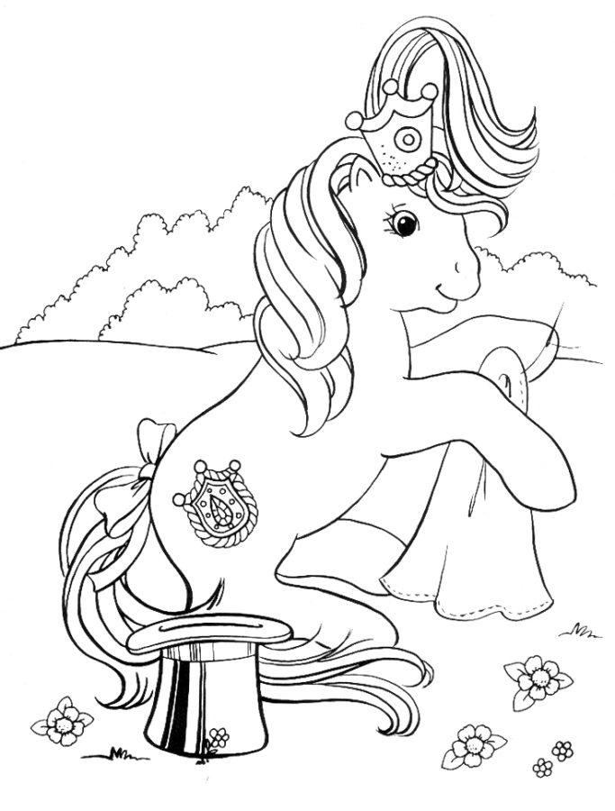 Раскраска пони Барби