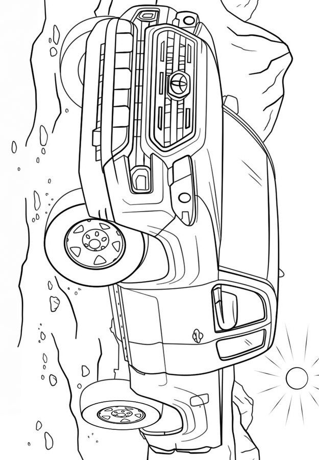 Раскраска Тойота джип Тундра