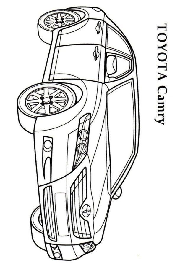 Раскраска Тойота камри