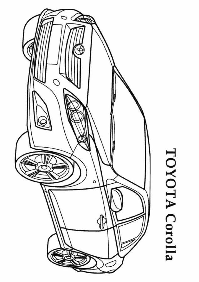 Раскраска Тойота королла