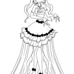 Раскраска Винкс в бальном платье