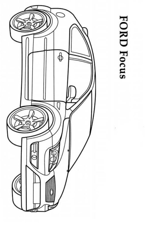 Раскраски Форд Фокус 2