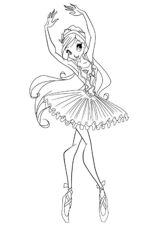 Раскраски Винкс балерина
