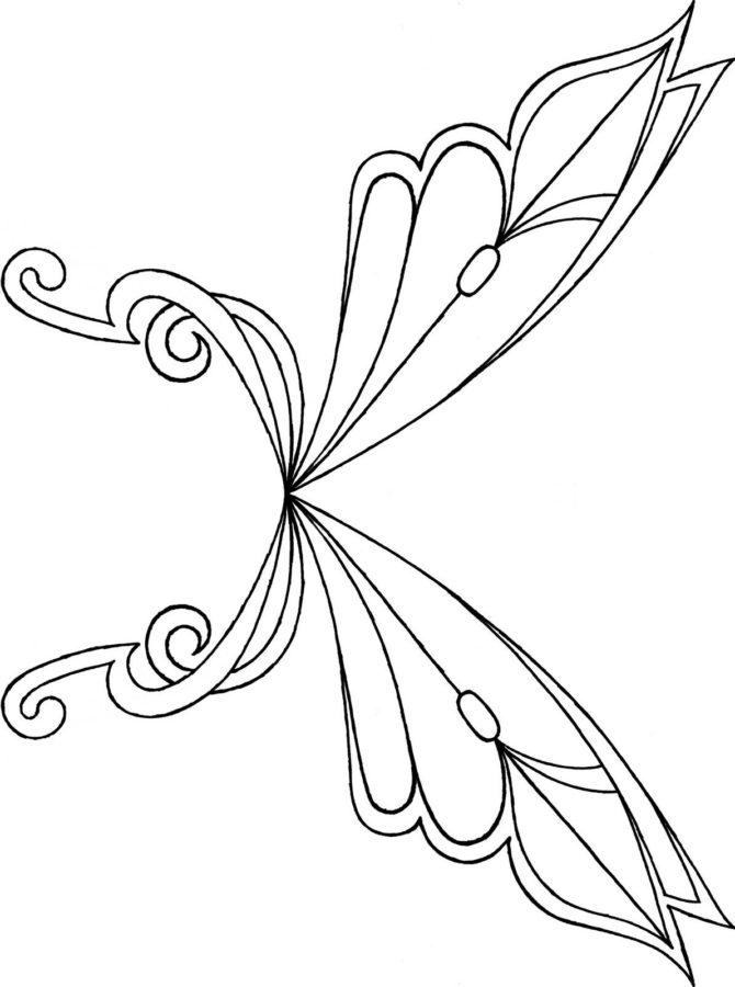 Крылья Винкс раскраска