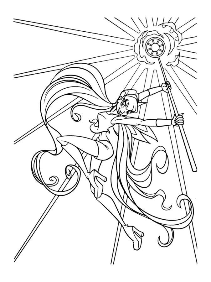 Раскраски волшебница Винкс