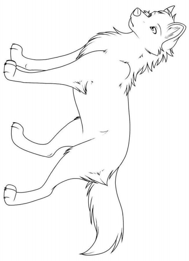 Раскраска аниме собаки