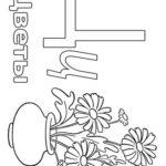 Раскраска буква Ц с цветами