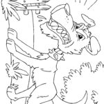 Злая собака раскраска
