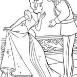 Золушка и принц раскраска