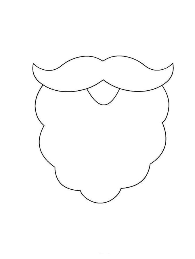 Борода деда мороза раскраска
